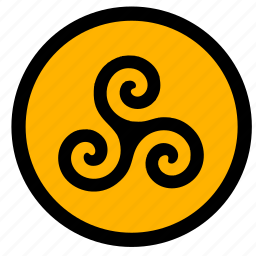celtic, label, round, sign, tattoo, tradition icon