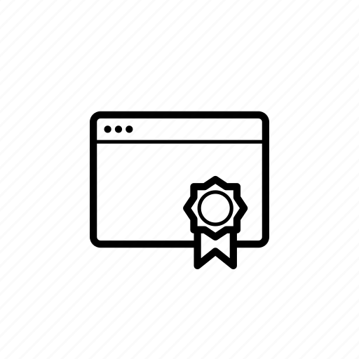 certificate, license, ssl, tab, window icon