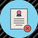 certificate, certification, rules, remove, standard, document, delete