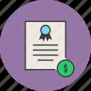 banking, business, certificate, dollar, financial, statement, trade