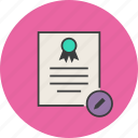 certificate, certification, edit, modify, standard, rules, document