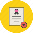 certificate, certification, document, favorite, popular, rules, standard icon