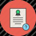 info, help, certificate, certification, rules, standard, document