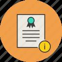 info, information, certificate, certification, rules, standard, document