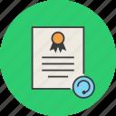 certificate, certification, rules, update, refresh, standard, document