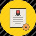 star, certificate, certification, rules, favorite, standard, document