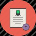certificate, certification, document, export, rules, standard, upload