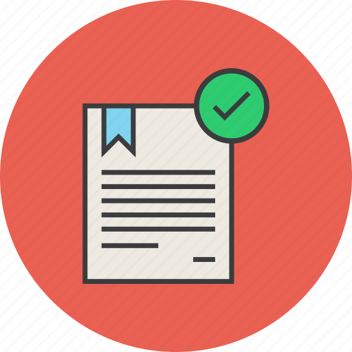 approve, booklet, certificate, confirm, document, manual, rules icon