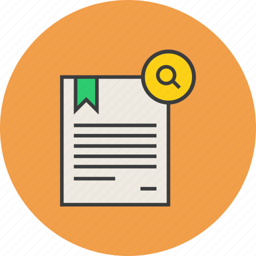 certificate, document, find, locate, rules, search, standard icon