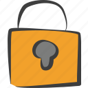 lock, locked, password, protect, protection, secure, security icon