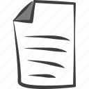 data, document, file, page, paper, sheet, text icon