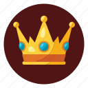 badge, champions, crown, emblem, king, win, winning icon