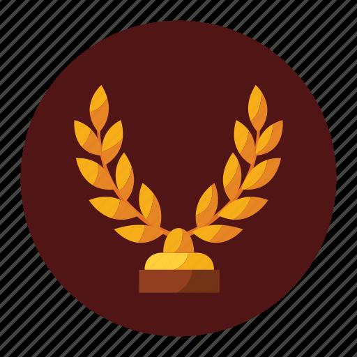 achievement, award, champion, label, medal, trophy, winner icon