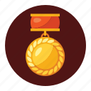 badge, champions, emblem, medals, ribbon, seal, win icon