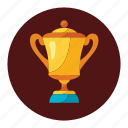 award, gold, prize, seal, trophy, win, winner icon