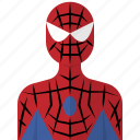 avatar, cartoon, hero, man, people, spider icon