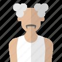 adult, avatar, man, old, people icon