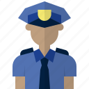 avatar, cop, man, officer, people, police icon