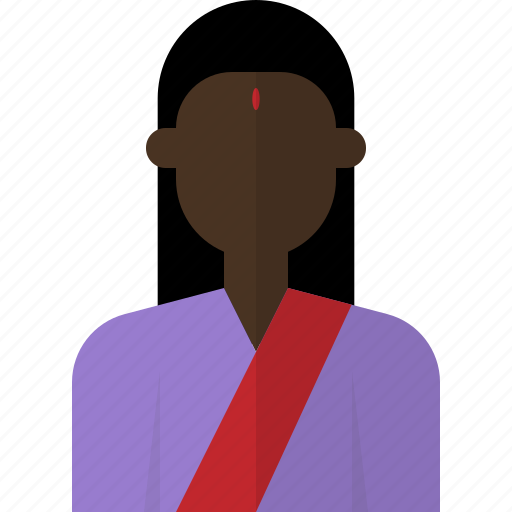 avatar, female, indian, people, person, woman icon