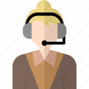 avatar, business, call, operator, people, person, woman