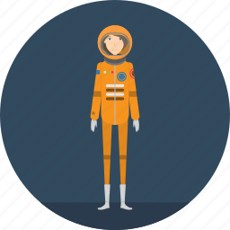adult, astronaut, female, people, profession, science, spaceman icon