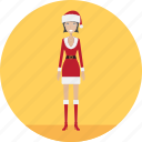 adult, christmas, christmaslady, female, holiday, people, profession icon