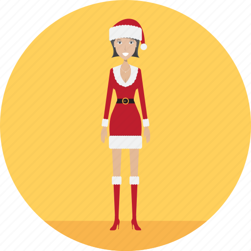 adult, christmas, christmaslady, female, holiday, people, profession icon