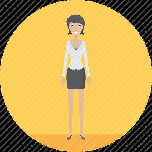 adult, employer, female, job, people, profession, task icon