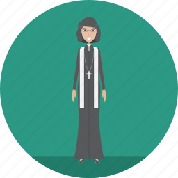 adult, female, lecturer, pastor, people, profession, religion icon
