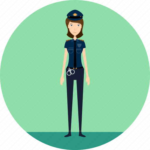adult, female, people, police, policelady, profession, security icon