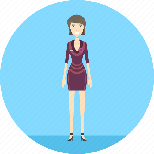 adult, female, lady, people, profession, reservation, serve icon