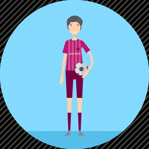adult, female, football, people, profession, sport, sportlady icon
