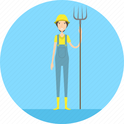 adult, farm, farmer, female, people, profession, village icon