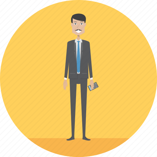 Accountant, adult, business, male, management, people, profession icon - Download on Iconfinder