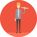 adult, architect, male, manufacturing, people, plan, profession icon