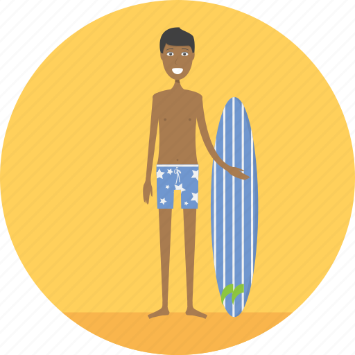 adult, beach, beachman, male, people, profession, surf icon