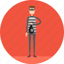 adult, crime, criminal, male, people, profession, thief icon