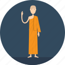 adult, lecture, male, monk, people, profession, religion icon