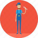 adult, male, mechanic, people, profession, repair, service icon