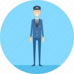 adult, business, captain, male, people, pilot, profession icon