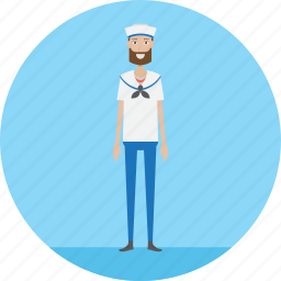 adult, male, navy, people, profession, sail, sailor icon