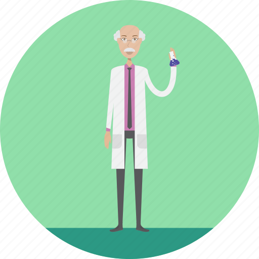 adult, male, people, physics, profession, scientist, test icon