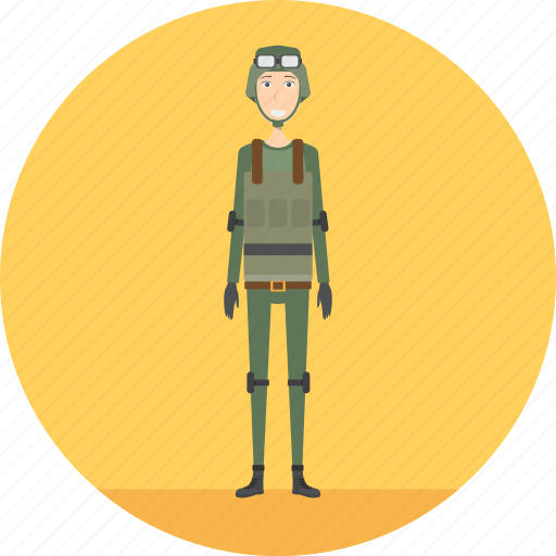 adult, army, male, people, profession, soldier, war icon