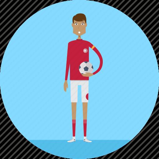 Sport, people, sportman, football, profession, adult, male icon