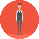 adult, male, people, profession, serve, wait, waitress icon