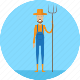 adult, farm, farmer, male, people, profession, village icon