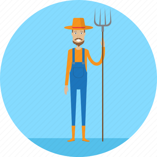 adult, farm, farmer, male, people, profession, village icon