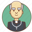 cartoon, character, character set, church, man, person, reverend icon