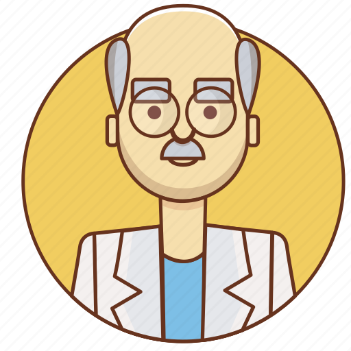 bald, cartoon, character, character set, doctor, man, medicine, person icon