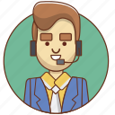 businessman, cartoon character, character, character set, customer service, man, person icon